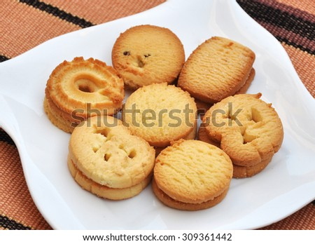 Butter Cookies - stock photo