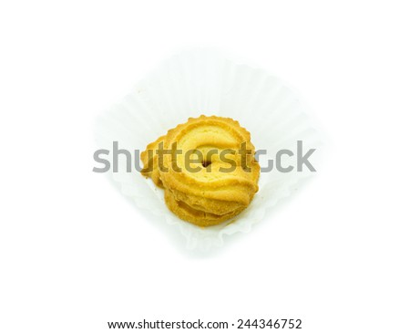 Butter cookies  in muffin cup - stock photo