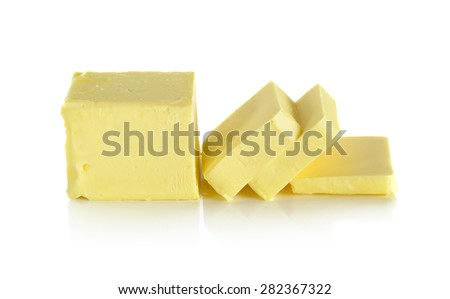 butter isolated on the white background. - stock photo