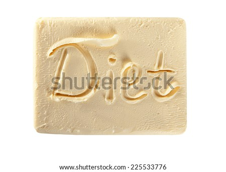 Butter labeled Diet - stock photo