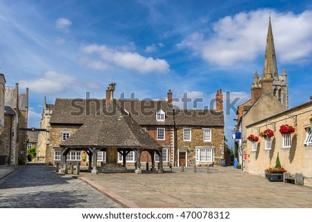Buttercross  in the town of Oakham in Rutland
