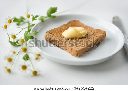 Buttered Toast - stock photo