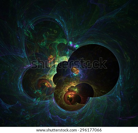 Butterfly abstract illustration - stock photo