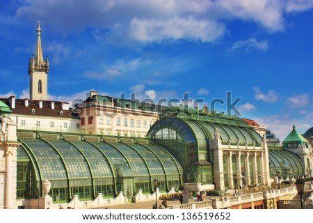 Butterfly house / Schmetterlinghaus Vienna, Austria - stock photo