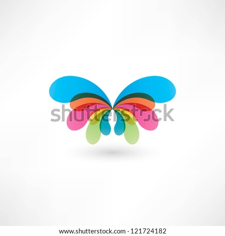 Butterfly Icon - stock photo