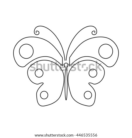 Butterfly icon in outline style isolated on white background