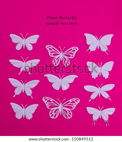 Butterfly paper cut art , Thailand - stock photo