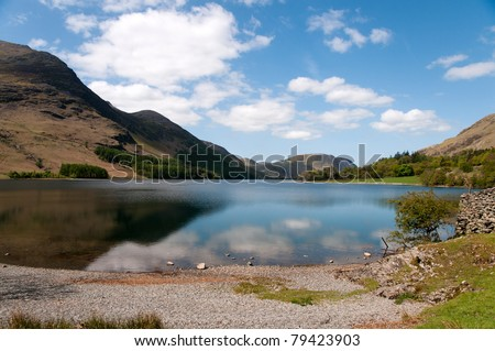 Buttermere in the English Lake District - stock photo