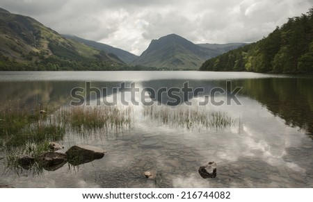 Buttermere Reflections - stock photo