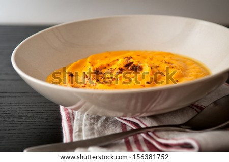Butternut velout�© (soup) - stock photo