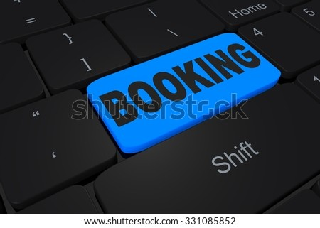 "Button ""Booking"" on keyboard"