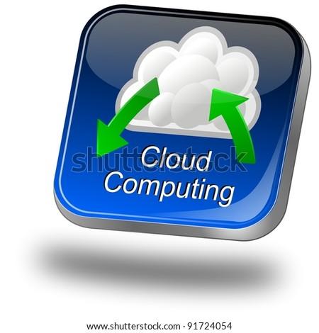 Button Cloud Computing - stock photo