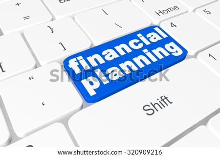 "Button ""finance planning"" on keyboard"
