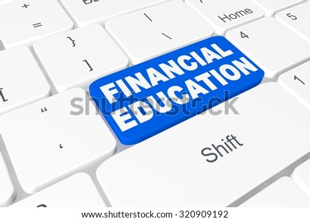 "Button ""financial education"" on keyboard"