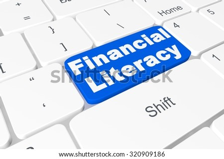 "Button ""financial literacy"" on keyboard"