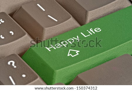 Button for happy life