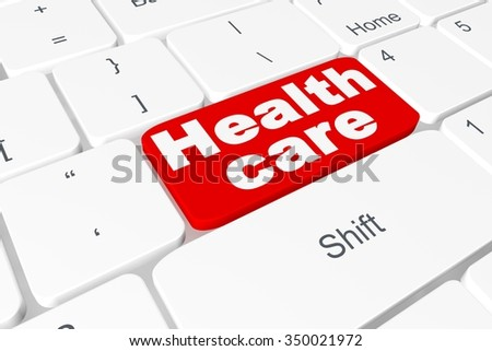 "Button ""Health care"" on keyboard"