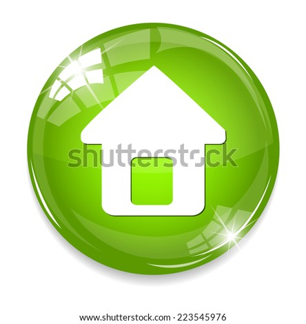 button home symbol sign - stock photo