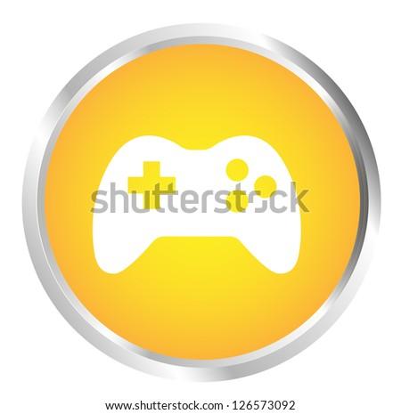 Button Joystick - stock photo