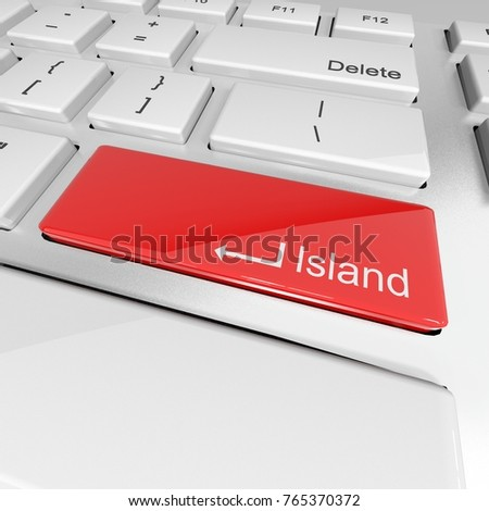 BUTTON, KEYBOARD, 3D ILLUSTRATION