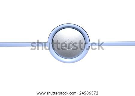 Button of shutdown - stock photo