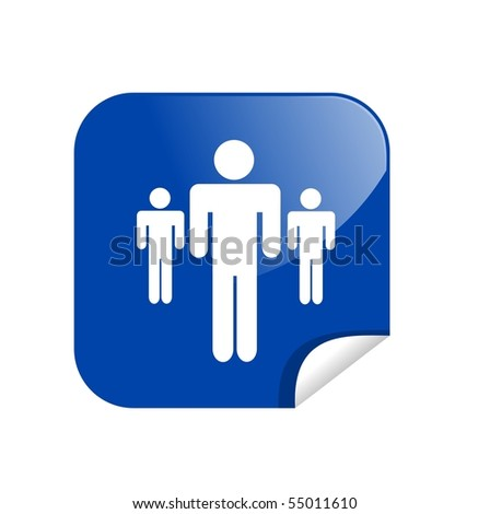 button people - stock photo