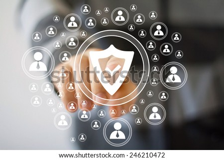 Button shield security icon virus business web sign - stock photo