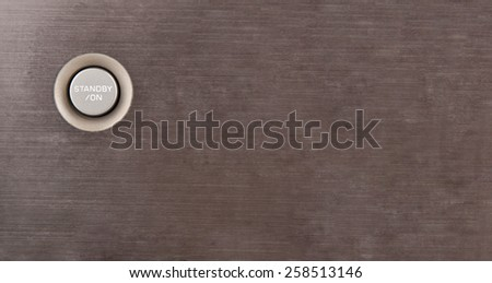 Button standby / ON on a silver background - stock photo