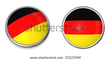 button style banner in 3D of Germany