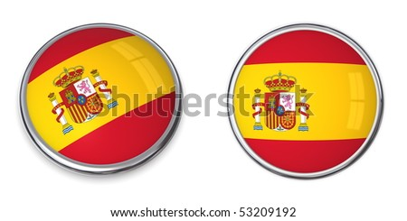 button style banner in 3D of Spain