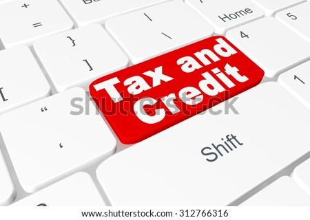"Button ""tax and credit"" on keyboard"