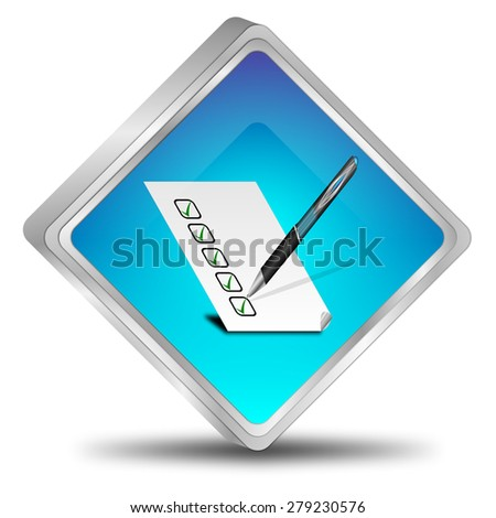 Button with check list - stock photo