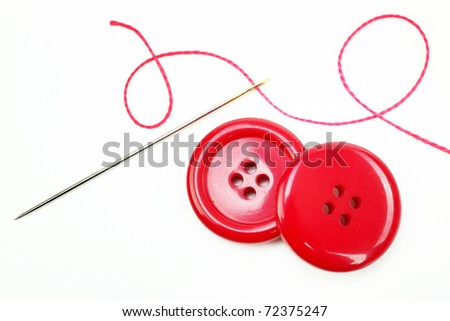 button with needle and thread