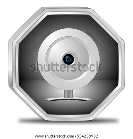 Button with Webcam