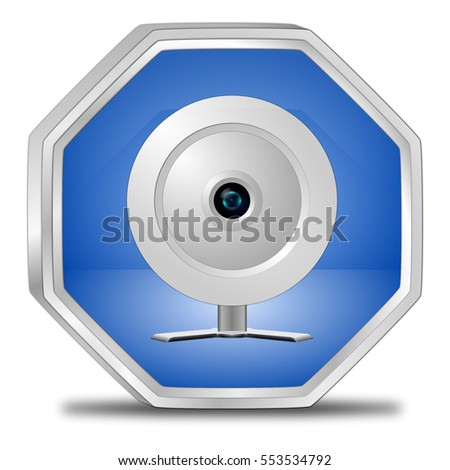 Button with Webcam - 3D illustration