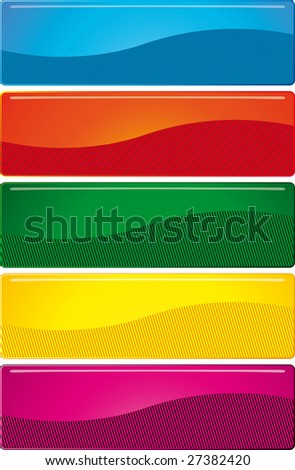 Buttons. Bright elements to your design. Blue, red, green, yellow, purple on a white background.