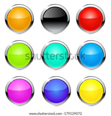 Buttons, elements round. raster copy.