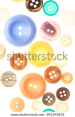 Buttons isolated. close up