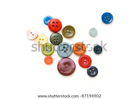 Buttons isolated on the white background - stock photo