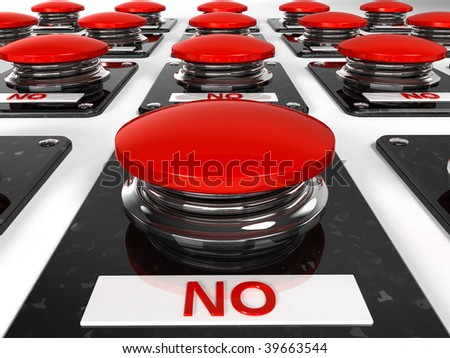 Buttons - No - stock photo