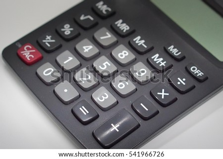 Buttons of calculator