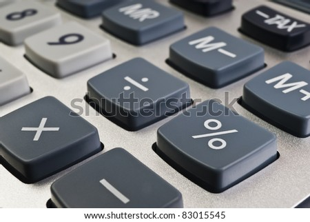 Buttons of calculator (focus on the button percent)