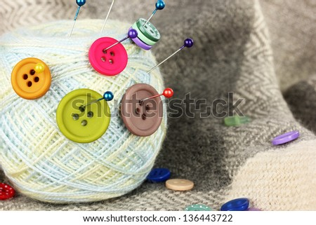 Buttons of different shapes, sizes and colors