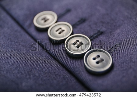 Buttons on clothes, close up