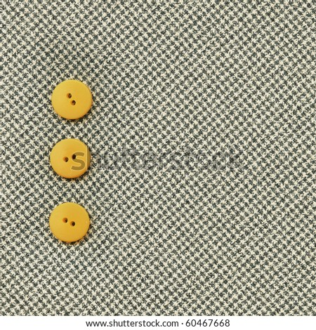 Buttons on the old clothes - stock photo