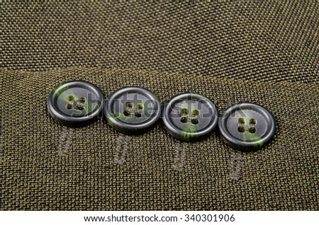 Buttons sleeve of his jacket. Macro photo for microstock - stock photo