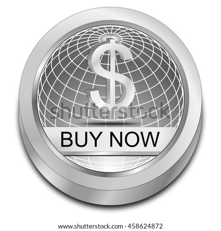 Buy now Button - 3D illustration - stock photo