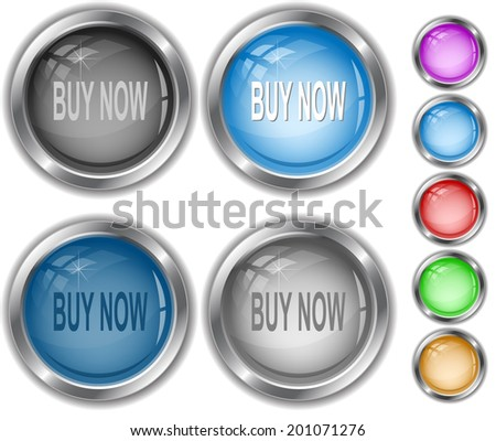 Buy now. Raster internet buttons.  - stock photo