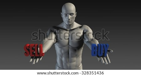 Buy or Sell as a Versus Choice of Different Belief - stock photo