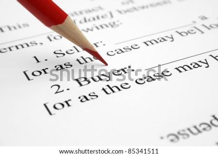 Buyer form - stock photo